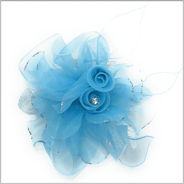Lapel Flower- Flower2 Blue - Prom - Fashion - Wedding - ANGELINO