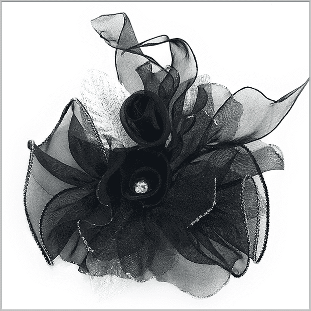 Men's Fashion Lapel Flower- Flower2 Black