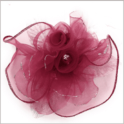 Men's Fashion Lapel Flower Flower2 Wine - Wedding - Prom - ANGELINO