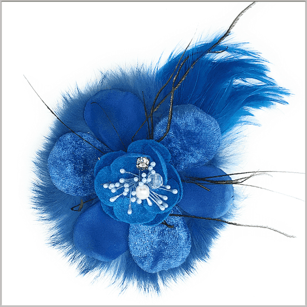 Men's Fashion Lapel Flower- Flower3 BLue