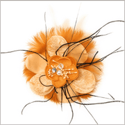 Men's Fashion Lapel Flower- Flower3 Orange