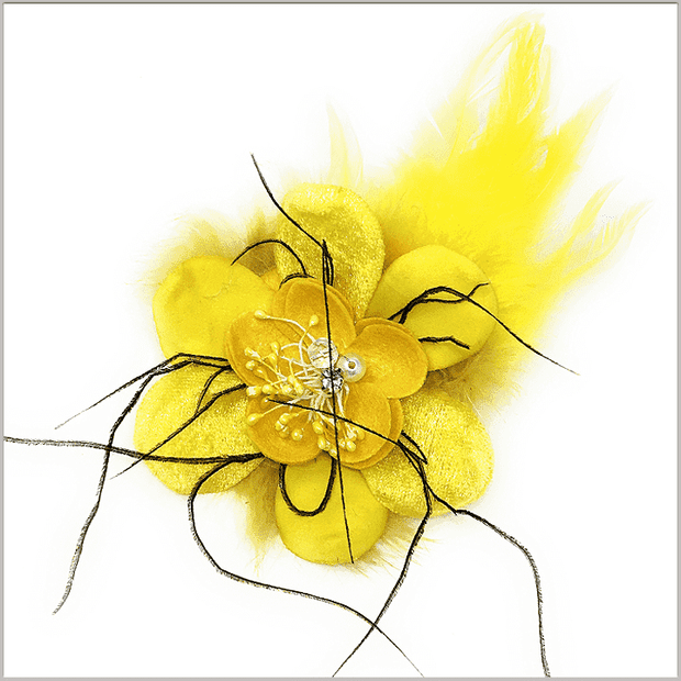 Men's Fashion Lapel Flower- Flower3 Yellow