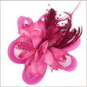 Men's Fashion Lapel Flower- Flower4 Dark Pink - ANGELINO