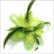 green lapel flower