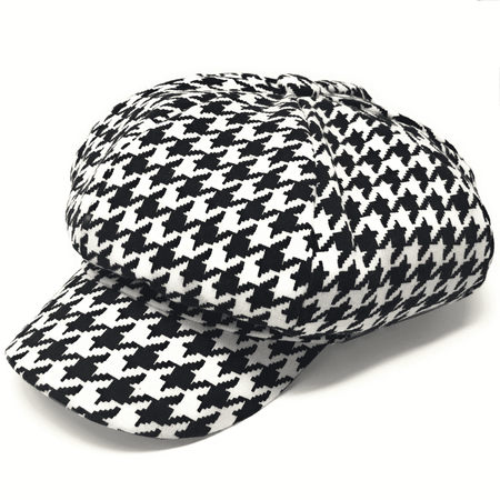 men black and white hounds cap
