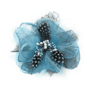 Men's Fashion Lapel Flower- Flower5 Turquoise - ANGELINO
