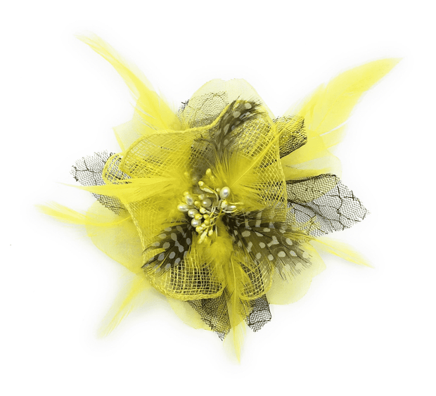 Men's Fashion Lapel Flower- Flower5 Yellow - ANGELINO