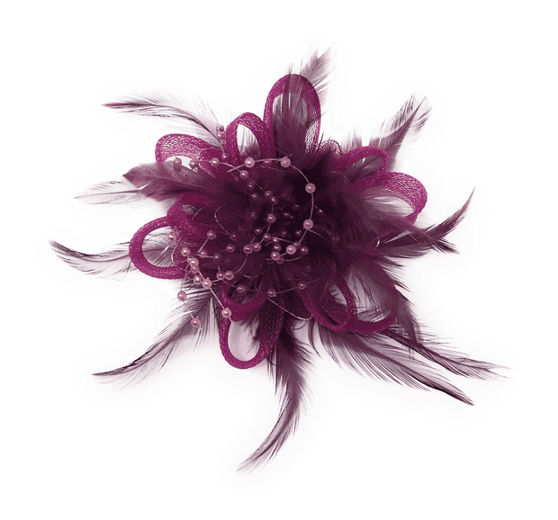 fashion purple lapel flower