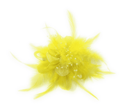 Men's Fashion Lapel Flower- Flower6 Yellow - ANGELINO