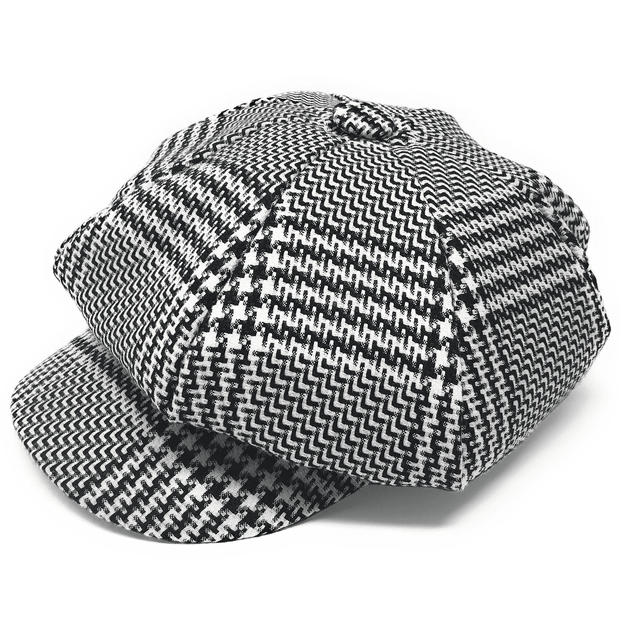 Men's Fashion Hat Glen Black/White - ANGELINO