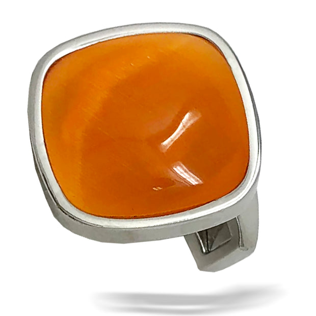 men's cufflinks, orange cufflinks