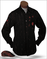 Men's New Fashion Angelino Shirts Amato Black - ANGELINO