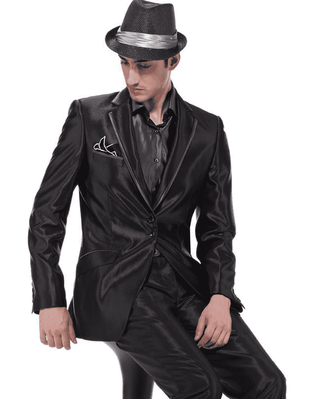 Men's Fashion Suit Dante Black - ANGELINO