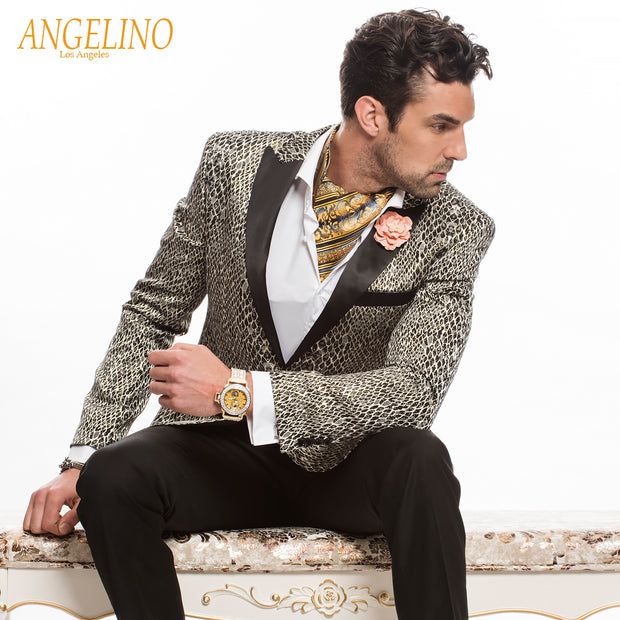 Men's Silk Ascot Tie - ANGELINO