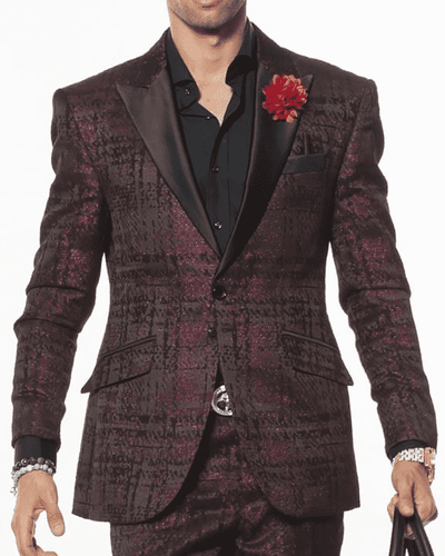 Men's Fashion Suit-Fabio Pink - ANGELINO