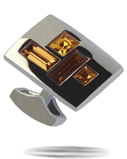 Men's Fashion Angelino Cufflinks #8 Gold - ANGELINO