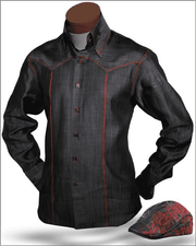 Men's Fashion Angelino Shirts - Celino Black - ANGELINO