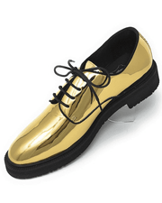 SHINY GOLD DERBY BIT DRESS SHOE