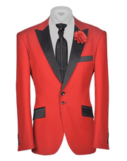 Red Tuxedo Blazer - tux Red | ANGELINO