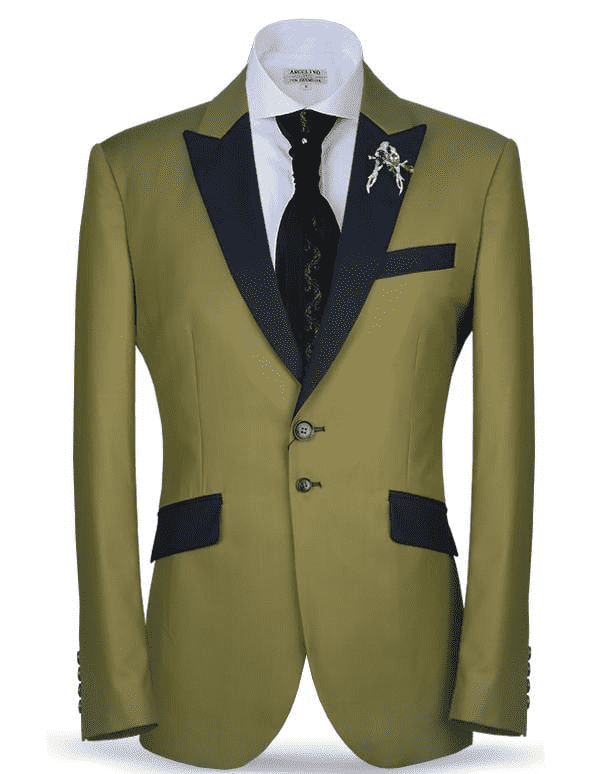 Men's Classic Suit-New Classic Suit1 Green (36) - ANGELINO