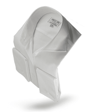 Men's Fashion Angelino Shirt Wave White - ANGELINO