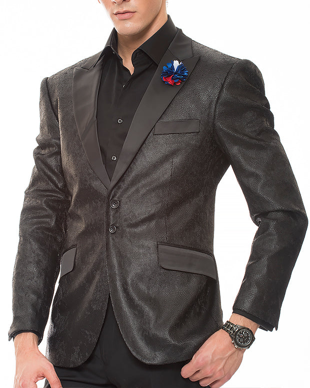 Men's Fashion Sport Coat Gianni Black2 - ANGELINO