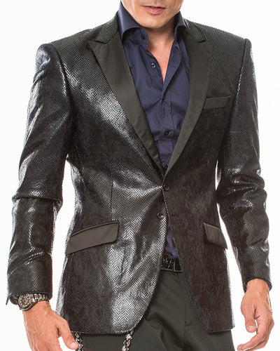Fashion Blazer- Gianni Black. - Tuxedo - prom - Sport Coat