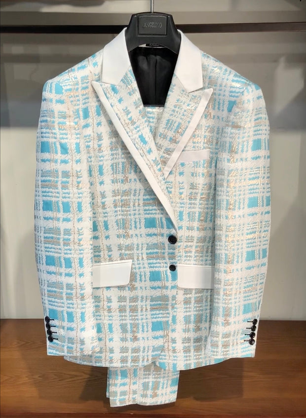 mens fashion suits, mens blue suits, plaid suits for men