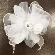 Prom Lapel Lapel Flower White color