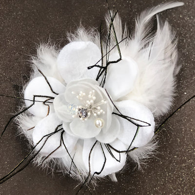 Men's Fashion Lapel Flower Flower3 White - ANGELINO