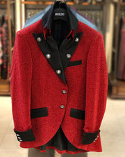 Prom Blazer  - Lord Red - Semi Long Jacket - Fashion - 2021 - Men - ANGELINO