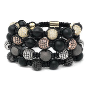 mens bead bracelet set