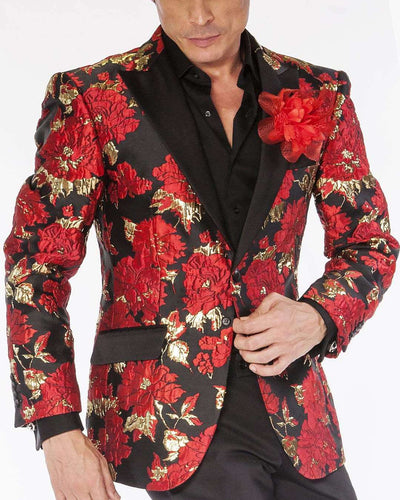 Men's Blazer and Sport Coat Samba Red - ANGELINO