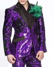 Sequin Suit for men, New R. Purple -  Prom - Tuxedo - Purple - ANGELINO