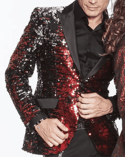 Sequin Blazer Red/Black/Silver - Fashion - Blazer - Jacket - ANGELINO