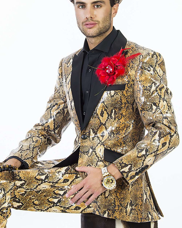 Sequin blazer mens - Snake - Tuxedo - Prom - Wedding - ANGELINO