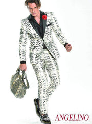 Men's Fashion Suit, Zebra Suits - Prom - Fashion - Suit - ANGELINO