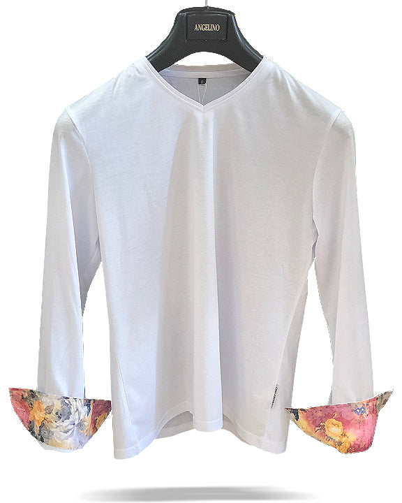 mens t shirt, white cotton shirt, long sleeve t shirt