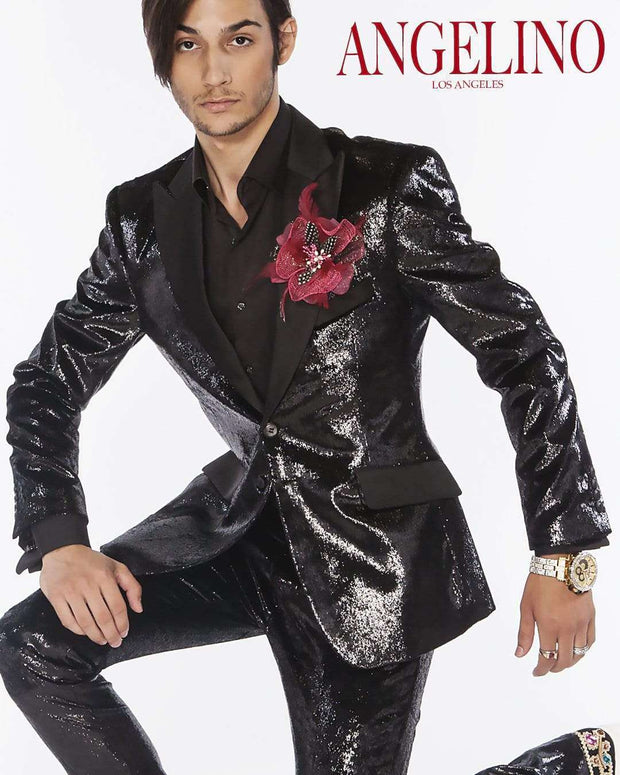 Prom Suit Tap shiny Black - 2 - ANGELINO