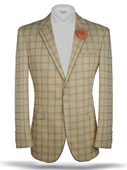 Men's Plaid blazer Tropical Gold - ANGELINO