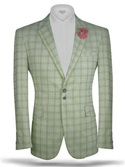 Men's Plaid blazer Tropical Green