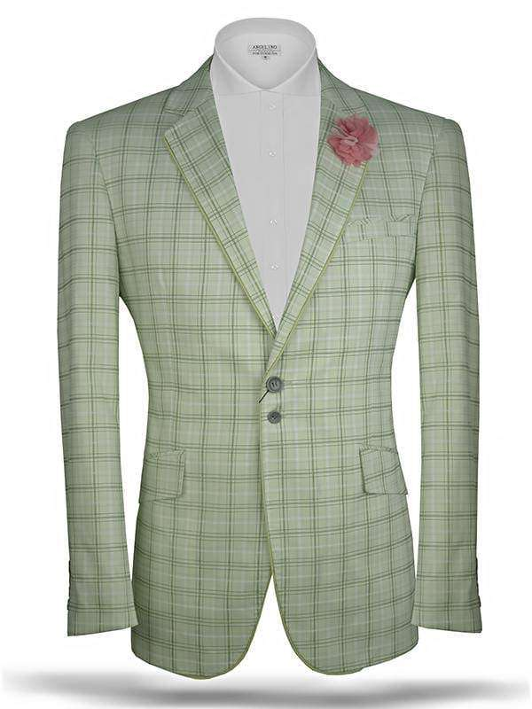 Men's Plaid blazer Tropical Green - ANGELINO