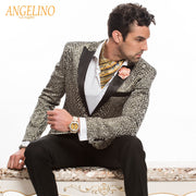 Men's Tuxedo Blazer, with gold/black tiger design