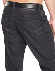 Men's Jeans - Paco with side ribbon - ANGELINO