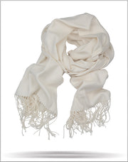 Men's Solid Scarf Off White - ANGELINO