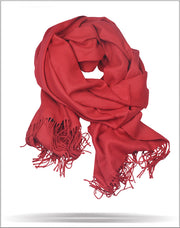 Men's Solid Scarf Red - ANGELINO
