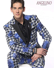 Fashion Blazer for Men, Hounds Flower Blue - Prom - 2020 - Fashion