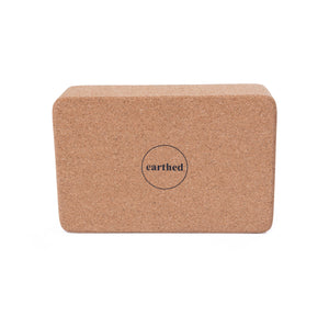 Earthed Cork Yoga Block
