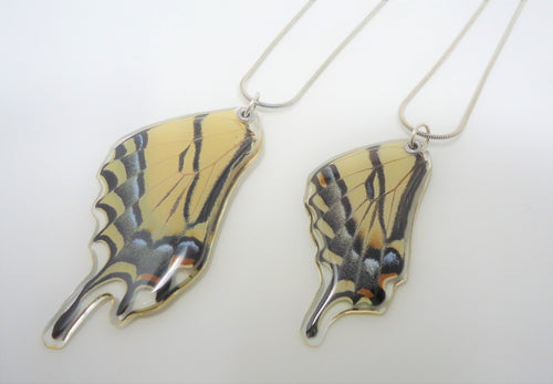Western and Two Tailed Swallowtail Butterfly Resin Necklace