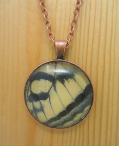Two-Tailed Swallowtail Pendant Necklace -- FOREWING